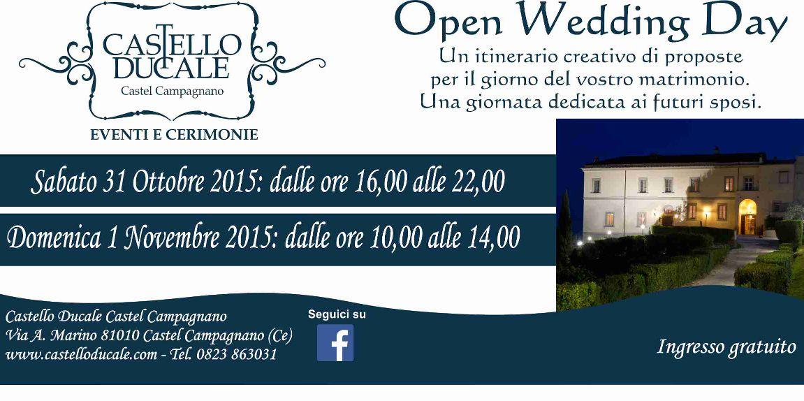 OPEN WEDDING DAY - 31 Ottobre 1 Novembre - Castello Ducale Castel Campagnano
