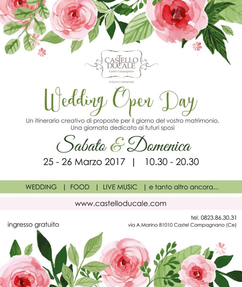 wedding open day 25-26 marzo 2017 castello ducale castel campagnano
