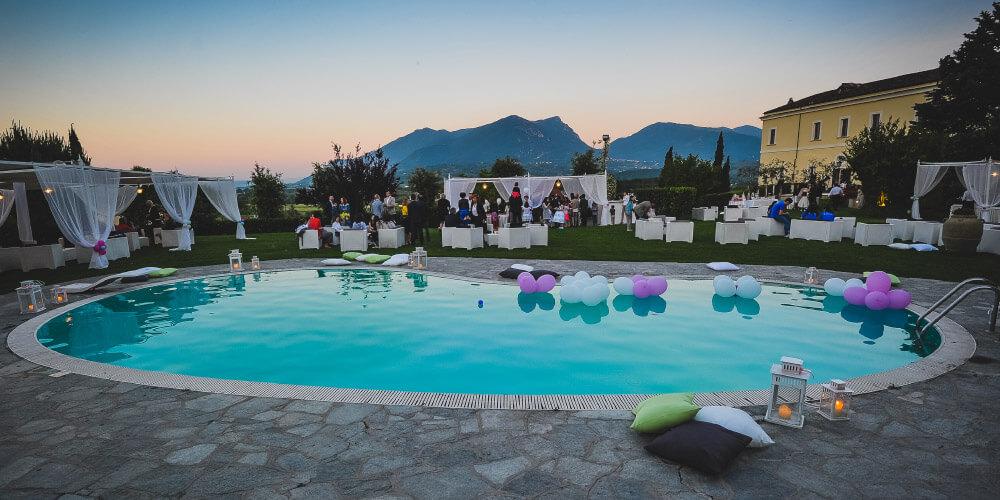 Location storica cerimonie matrimoni ricevimenti hotel for Addobbi piscina per matrimonio