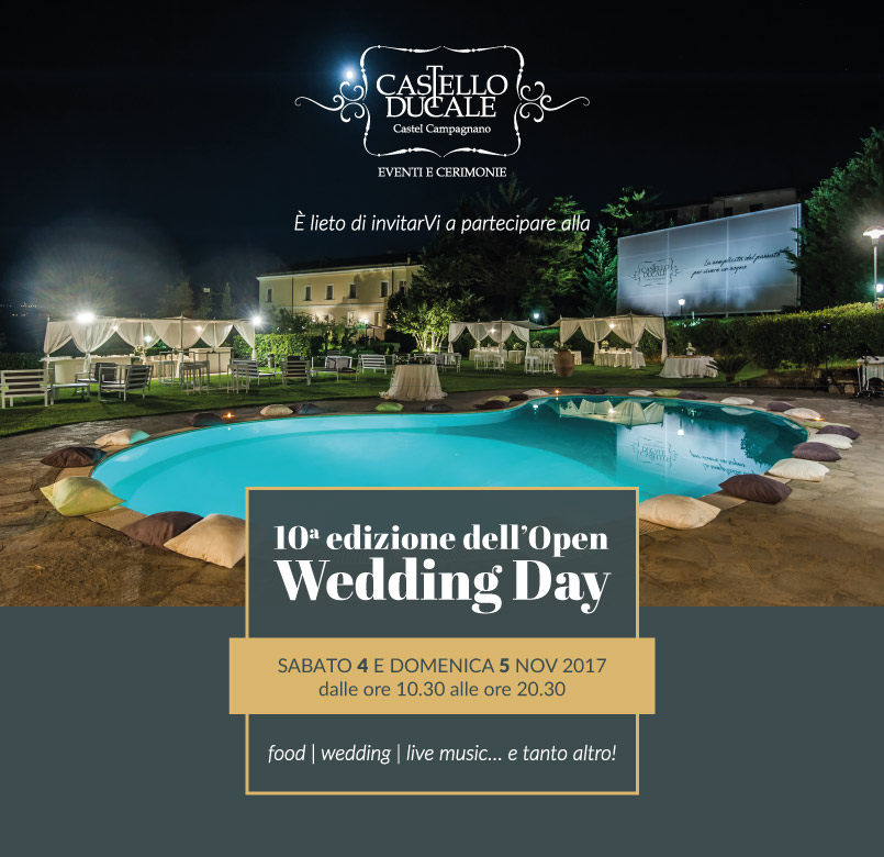 matrimonio 2018: nuove tendenze all'Open Wedding Day di Castello Ducale 4 e 5 novembre 2017