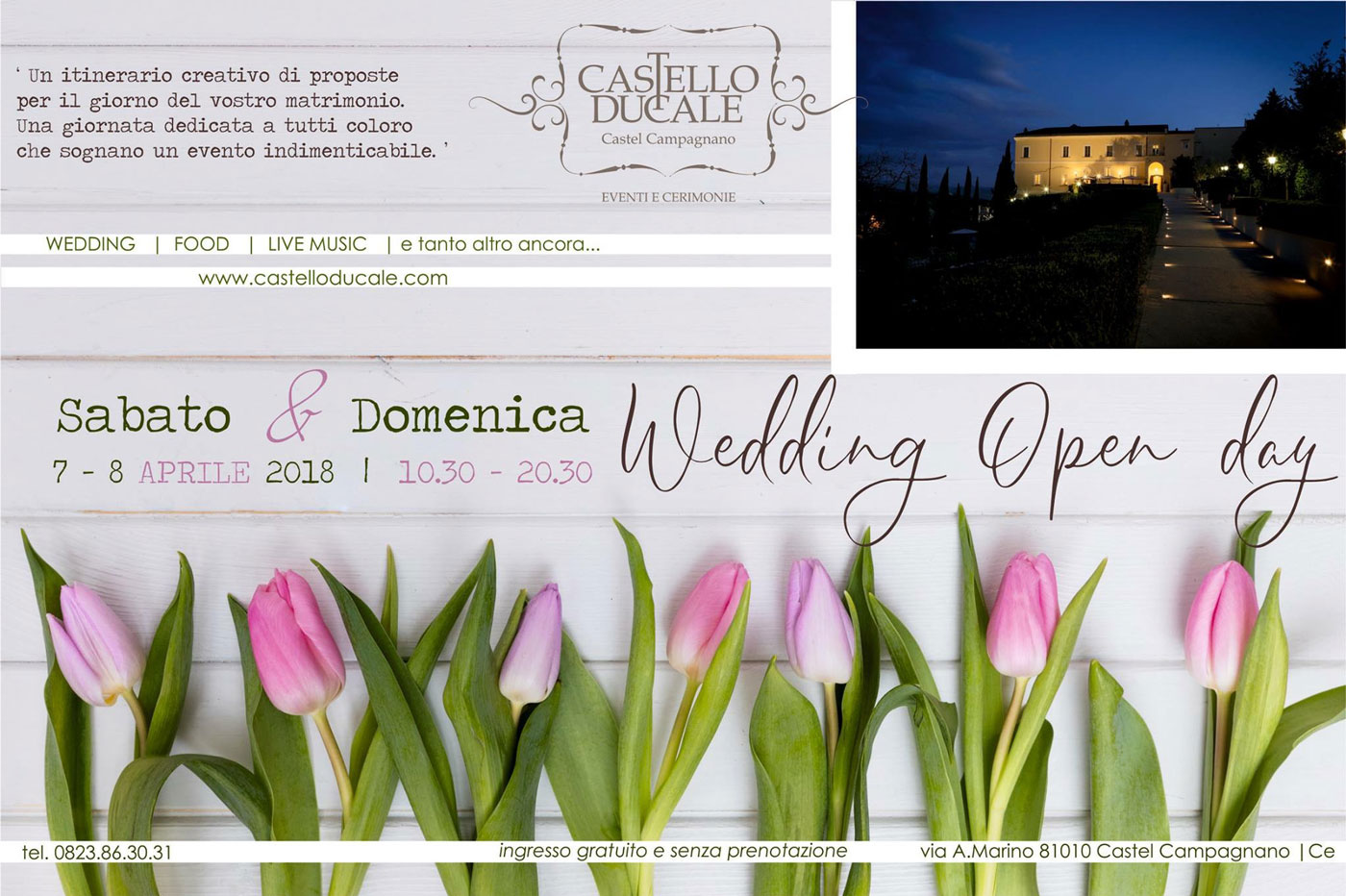 matrimonio 2018: nuove tendenze all'Wedding Open Day di Castello Ducale 7 e 8 aprile 2018
