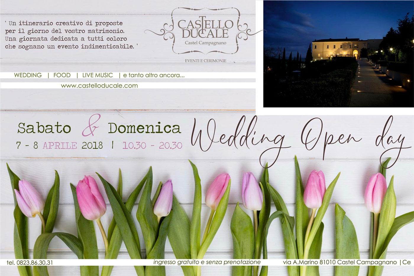 matrimonio 2018: nuove tendenze all'Wedding Open Day di Castello Ducale 7 e 8 aprile 2018